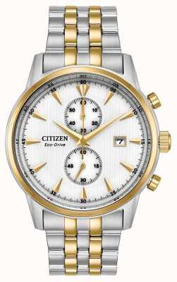Citizen Mens Chronograph Date Silver Steel Bracelet CA7004-54A