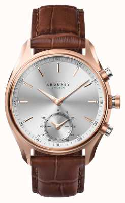 Kronaby 43mm SEKEL *Seen In GQ Bluetooth RoseGold/Leather A1000-2746 S2746/1