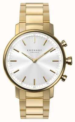 Kronaby 38mm CARAT Bluetooth Gold Bracelet Silver Dial A1000-2447 S2447/1