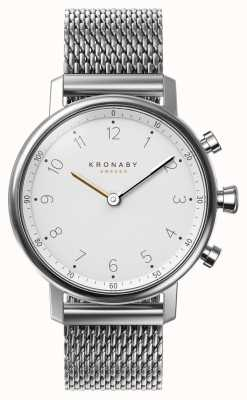 Kronaby 38mm NORD Bluetooth Steel Mesh Bracelet Smartwatch A1000-0793