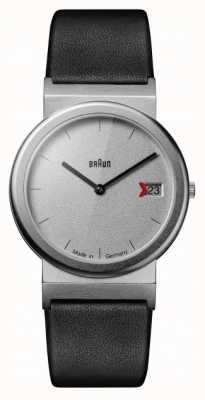 Braun Braun Classic 1989 Tribute Design Black Leather Strap Grey AW50