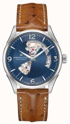 Hamilton Mens Jazzmaster Open Heart Automatic Blue Dial H32705041