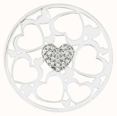 """MY iMenso """"HEART"""" COVER INSIGNIA 33MM (925/RHOD-PLATED) 33-1379"""