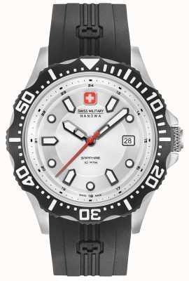 Swiss Military Hanowa Patrol Silver Dial Black Silicone Strap 06-4306.04.001SM