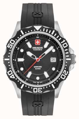Swiss Military Hanowa Patrol Matte Black Dial Silver Bracelet 06-4306.04.007SM