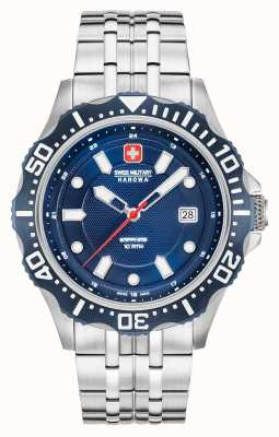 Swiss Military Hanowa Patrol Dark Blue Dial Silver Bracelet 06-5306.04.003SM