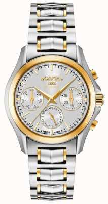 Roamer Searock Ladies Chrono Silver & Gold Bracelet 203901471520