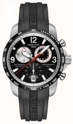 Certina | DS Podium | Big Size GMT Chronograph | Black | C0016392705700
