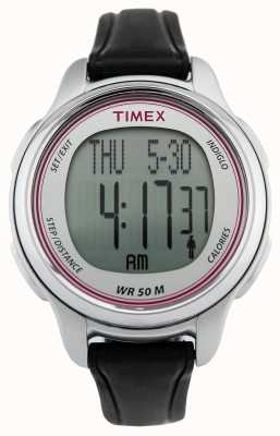 Timex Women's All Day Tracker Black Rubber Strap T5K636