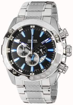 Festina Men's Chronograph Stainless Steel Black Dial F16488/3
