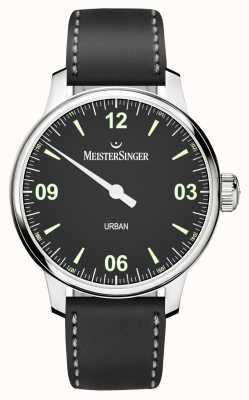 MeisterSinger Urban Men's Black Dial And Strap UR902