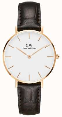 Daniel Wellington Petite York Classic Brown Strap White Dial DW00100176