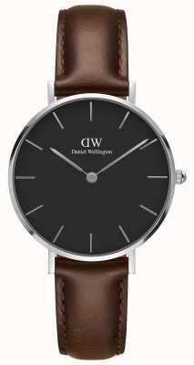 Daniel Wellington Unisex Petite Bristol Silver 32mm Black DW00100177