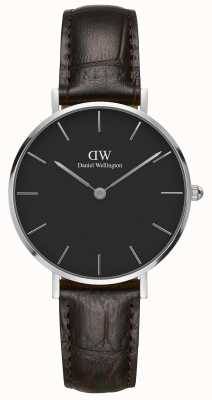 Daniel Wellington Unisex Classic Petite York 32mm Silver Black DW00100182