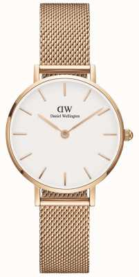 Daniel Wellington Womens Petite 28mm Melrose Rose Gold White DW00100219