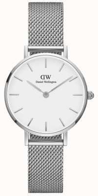 Daniel Wellington Womens Petite 28mm Sterling Silver White DW00100220