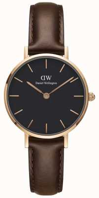 Daniel Wellington Womens Petite Bristol 28mm Rose Gold Black DW00100221