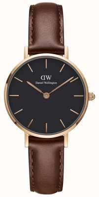 Daniel Wellington Womens Petite 28mm St Mawes Gold Black DW00100225