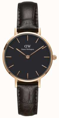 Daniel Wellington Womens Petite 28mm York Rose Gold Black DW00100226
