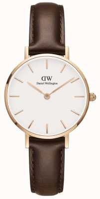 Daniel Wellington Womens Petite 28mm Bristol Rose Gold White DW00100227