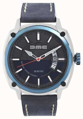 DeLorean Motor Company Watches ALPHA DMC BLUE Mens Blue Leather Strap Blue Dial DMC-2