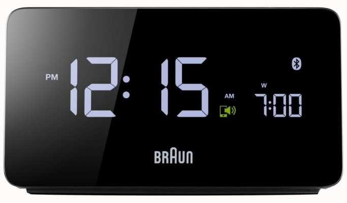 Braun EX DISPLAY Digital Bluetooth Alarm Clock BNC020BK EX DISPLAY