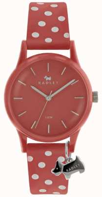Radley Ladies Coral 33mm Case Coral Dial Silver Dog Charm RY2641