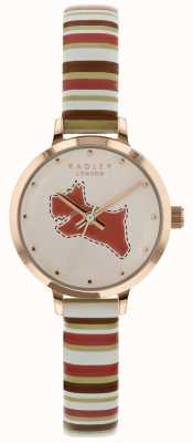 Radley Ladies 24mm Case Dial Chalk/Tan Coral Leather Strap RY2628