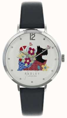 Radley Ladies Silver 36mm Case Silver/White Dial Ink Leather Strap RY2661