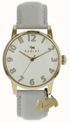 Radley Ladies 36mm Case GP Dial With Dog Charm Pond Leather Strap RY2646