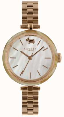 Radley Ladies 34mm Case Horn Bez White Dial