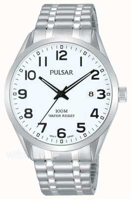 Pulsar Mens Stainless Steel Bracelet Date Dial Watch PS9559X1