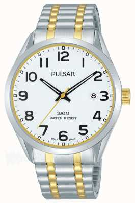 Pulsar Mens Two Tone Bracelet Date Dial PS9565X1