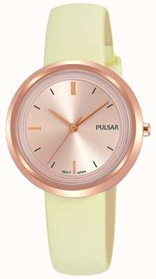 Pulsar Rose Gold Case and Dial Leather Strap PH8394X1