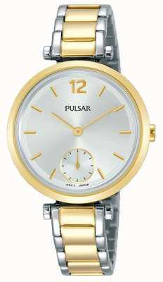 Pulsar Womens Two Tone Stainless Steel Bracelet Silver Bracelet PN4064X1