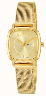 Pulsar Womens | Gold Stainless Steel Mesh Bracelet | Gold Dial | PH8380X1