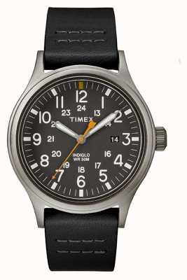 Timex Allied 40 Black Leather Strap/Black Dial TW2R46500