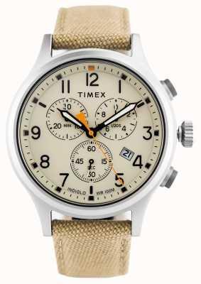 Timex Allied Chrono Khaki Nylon Strap/Natural Dial TW2R47300