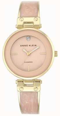 Anne Klein Womens Amanda Gold Case Pink Dial AK/N2512LPGB