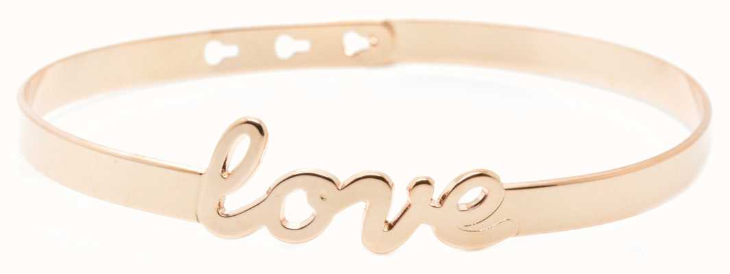 "Mya Bay Rose Gold PVD Plated ""love"" Bracelet JC-47.P"