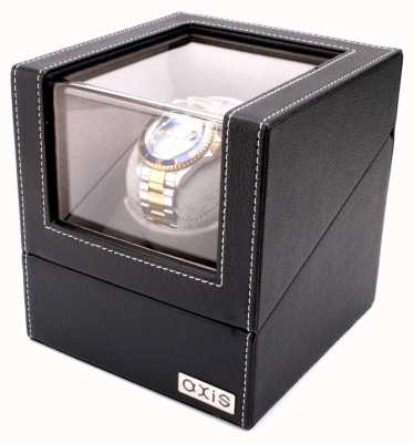 AXIS Black Leather Single Automatic 1 Watch Winder AXWW-2113BL