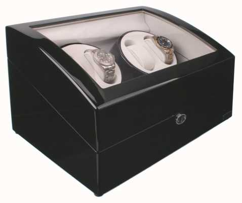 AXIS Black Automatic 4 Watch Winder New With 5 Watch Storage AXWW-1205BL