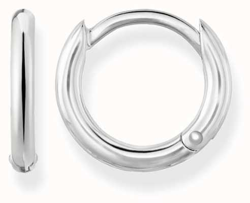 Thomas Sabo Womens Glam And Soul Classic Hinged Hoops Silver CR607-001-12