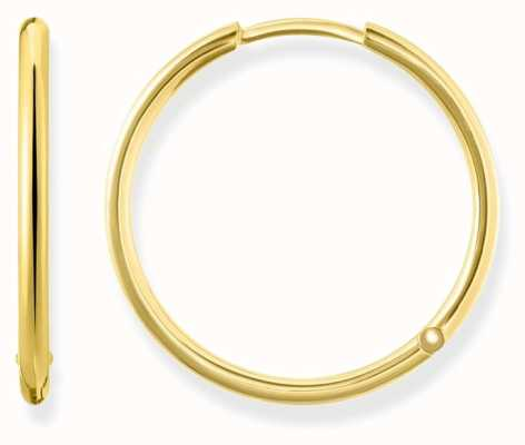 Thomas Sabo Womens Glam And Soul Large Hinged Hoops Gold CR610-413-12