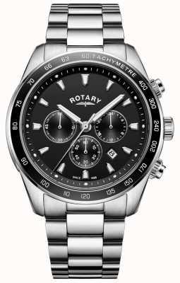 Rotary Men's Bracelet Henley Stainless Steel Chronograph GB05109/04