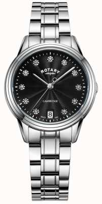 Rotary Women's Cambridge Stone Set SS Bracelet watch LB05258/13