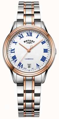 Rotary Women's Cambridge Two Tone Rose Gold Bracelet LB05260/01