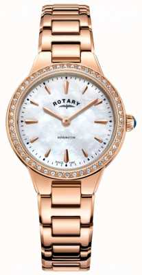 Rotary Women's Kensington Rose Gold Bracelet LB05279/41