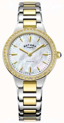Rotary Women's Kensington Gold Two Tone Stone Set LB05277/41