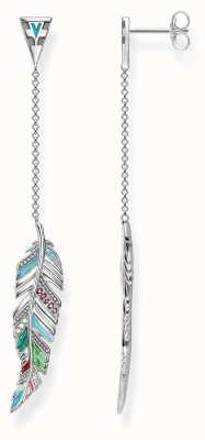 Thomas Sabo Womens Glam And Soul multicolour Feather earrings H1992-340-7